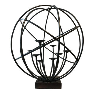 Wrought Iron Sphere Candle Holder