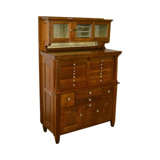 Antique Oak Dentist Cabinet by The American Cabinet Co.