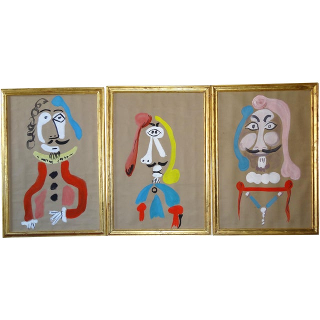 Trio of Surrealism Paintings - Image 1 of 8