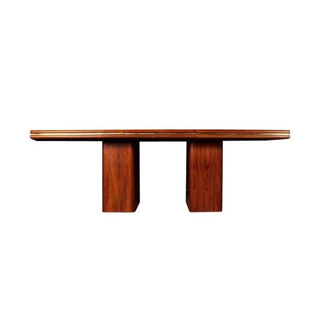 Vintage Rosewood Pedestal Base Dining Table - Image 2 of 4
