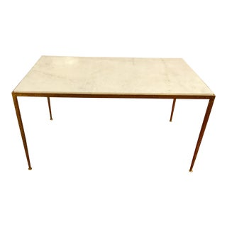 Arteriors Hammered Metal and Marble Cocktail Table