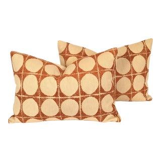 Burnt Orange Lumbar Pillows - a Pair
