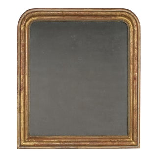 Antique French Louis Philippe Gold Leaf Mirror circa 1885 (36″ w x 41″ h)