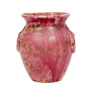 Pink Drip Glaze Art Pottery Vase