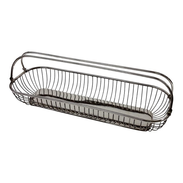 Silver Plate Wire Bread Basket - Image 1 of 8