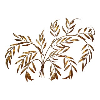 Gilded Italian Frond Wall Sculpture