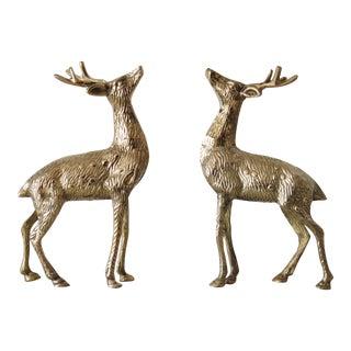 Vintage Brass Reindeer - A Pair