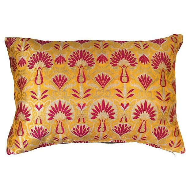 Image of Vintage Indian Silk Sari Pillows - A Pair