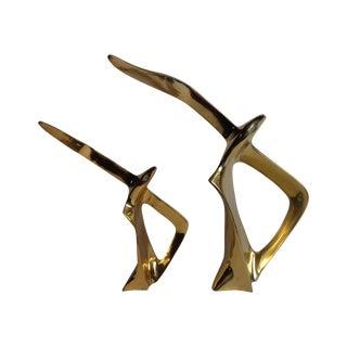 Mid-Century Brass Seagulls - A Pair