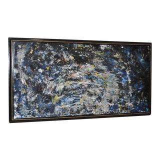 "Alex Grant ""Aurora Borealis"" Vintage Acrylic Painting c.1960s"