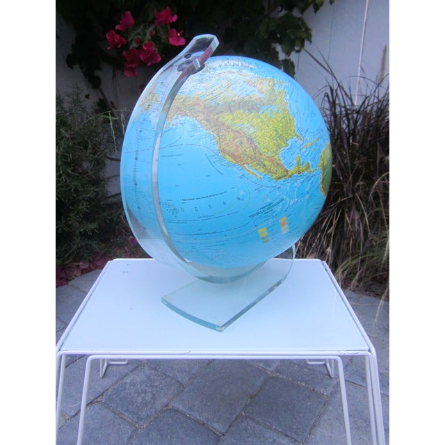 Vintage Globe with Thick Lucite Base - Image 4 of 9