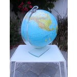 Image of Vintage Globe with Thick Lucite Base