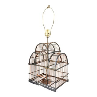 Vintage Bird Cage Table Lamp