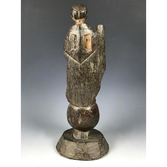 19th C. Carved San Vicente Ferrer Sculpture - Image 6 of 6