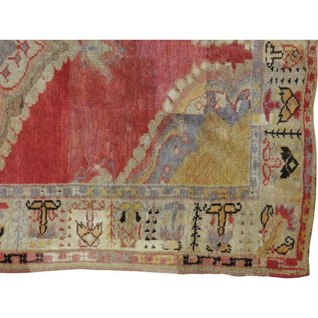 "Antique Turkish Distressed Rug - 4'7"" X 9'3"" - Image 2 of 3"