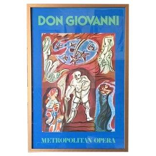 Vintage Metropolitan Opera Lithograph Poster