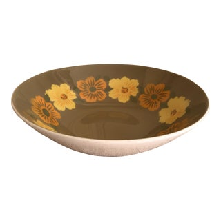 Mid-Century Ironstone Floral Bowl