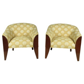 Art Deco Club Chairs - A Pair