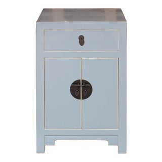 Contemporary Gray Wooden Side Chest