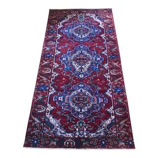 Hand Knotted Wool Persian Karaja Rug - 5′2″ × 10′