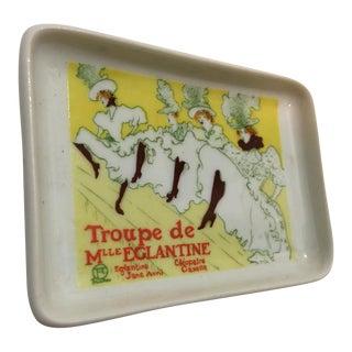 Limoges Toulouse Lautrec Porcelain Dish
