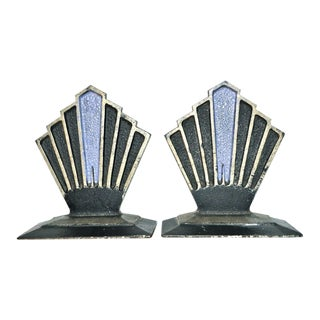 A Pair of Hubley Sunburst Bookends, Circa 1927