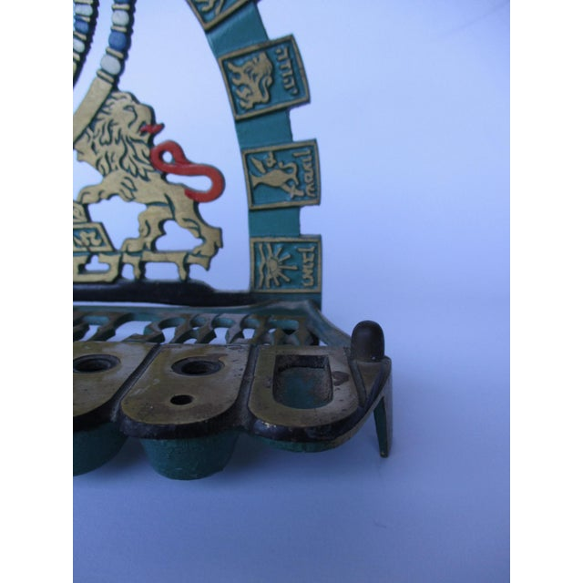 Vintage Bronze & Brass Oil Menorah - Image 7 of 9
