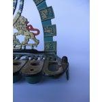 Image of Vintage Bronze & Brass Oil Menorah