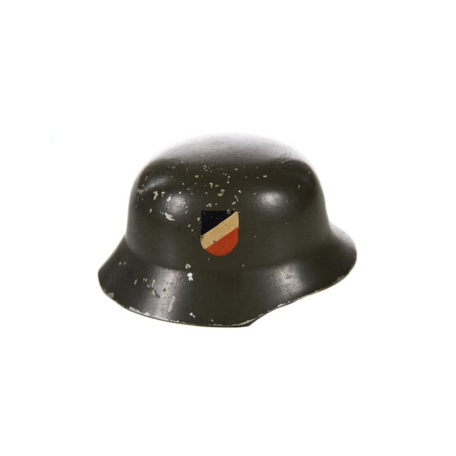 WW II Miniature German Helmet M1943 With Double Decal - Image 3 of 6