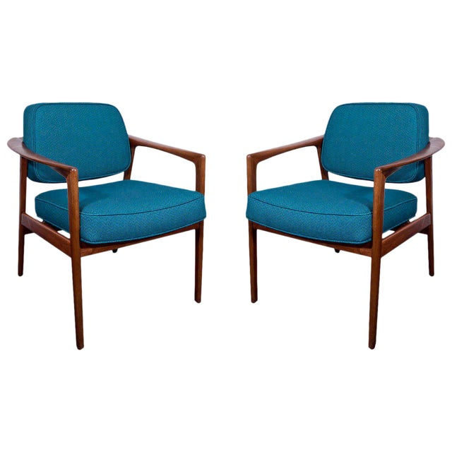 Pair of Lounge Chairs by Folke Ohlsson for Dux - Image 1 of 5