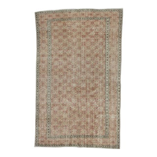 Distressed Vintage Turkish Rug - 5′2″ × 8′4″