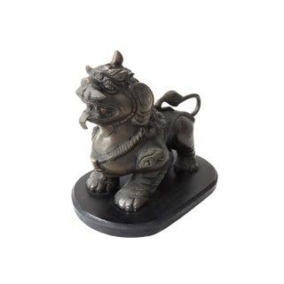 Antique Bronze Foo Lion