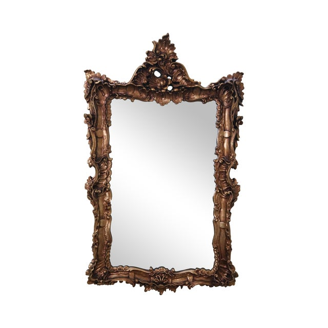 Vintage Gilt Carved Rococo Hanging Wall Mirror - Image 1 of 10