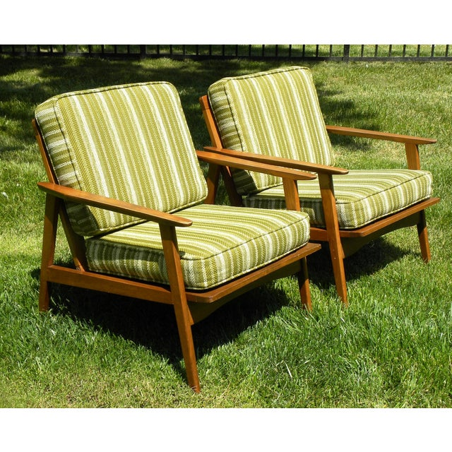 Vintage Mid Century Lounge Chairs - A Pair - Image 5 of 7