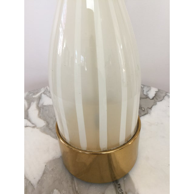 Italian Modern Glass and Brass Table Lamp - Image 5 of 8