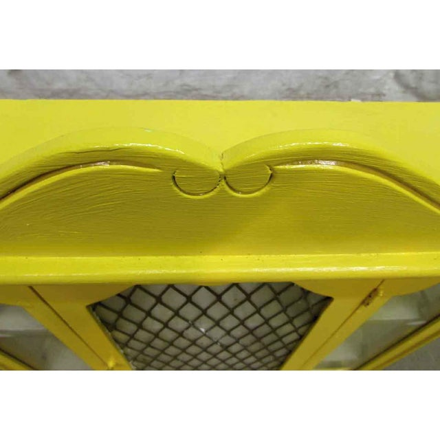 Yellow Painted Curio Cabinet - Image 3 of 8
