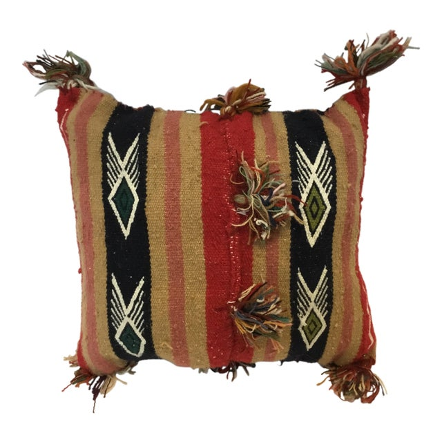 Tunisian Decorative Kilim Pillow - Image 1 of 3