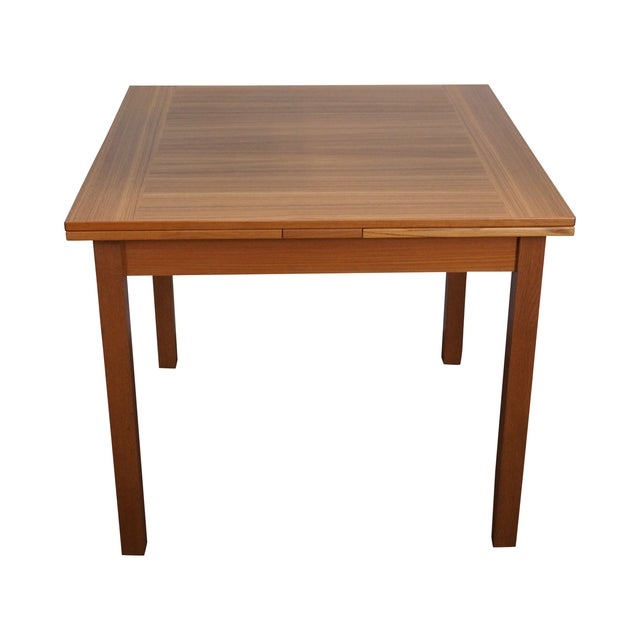 Danish Modern Teak Refractory Square Dining Table - Image 1 of 10