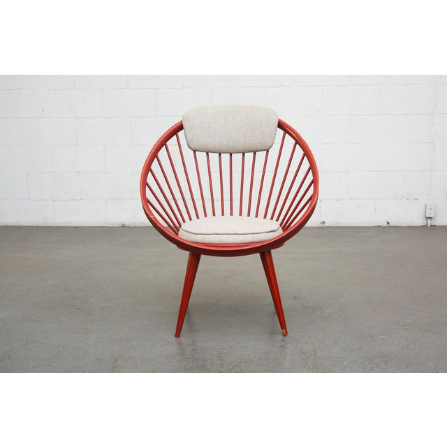 Swedish Red Hoop Lounge Chair - Image 3 of 11