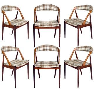 Set Of 6 Rosewood Kai Kristiansen Dining Chairs