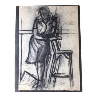 Mid-Century Female Figure Sketch I