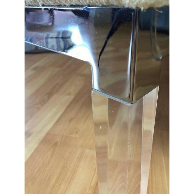 Charles Hollis Jones Lucite Leg Dining Chairs Set Of 6