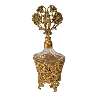 Vintage Ormolu Glass Perfume Bottle