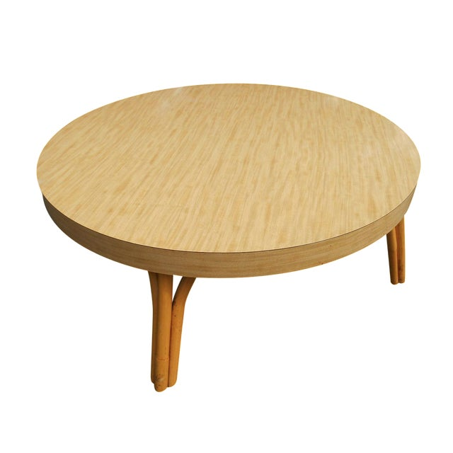 Mid Century Mod Asian Inspired Round Coffee Table Chairish