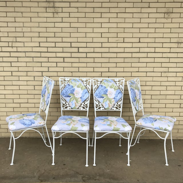 "Iron ""Garden Party"" Chairs - Set of 4 - Image 2 of 6"