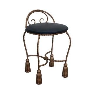 1950s Hollywood Regency Vintage Gilt Metal Chair