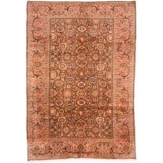 "Vintage Hamadan Persian Rug, 7'4"" X 10'7"""