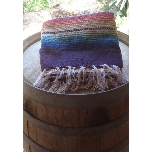 Purple Striped Serape-Style Throw - Image 5 of 8