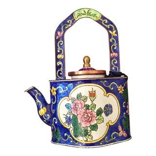 Charlotte DI Vita Enameled Miniature Teapot