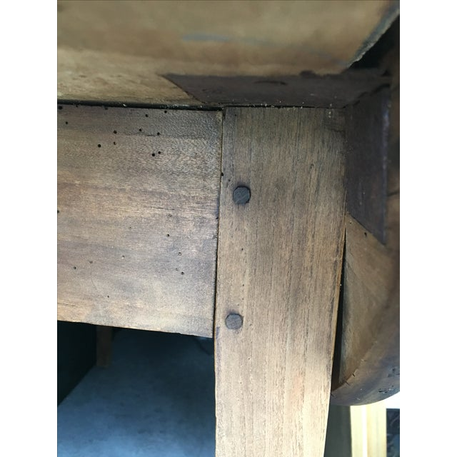 Image of Antique French Drop Leaf Dining Table